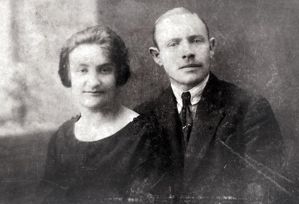 Solomon y su mujer Perla