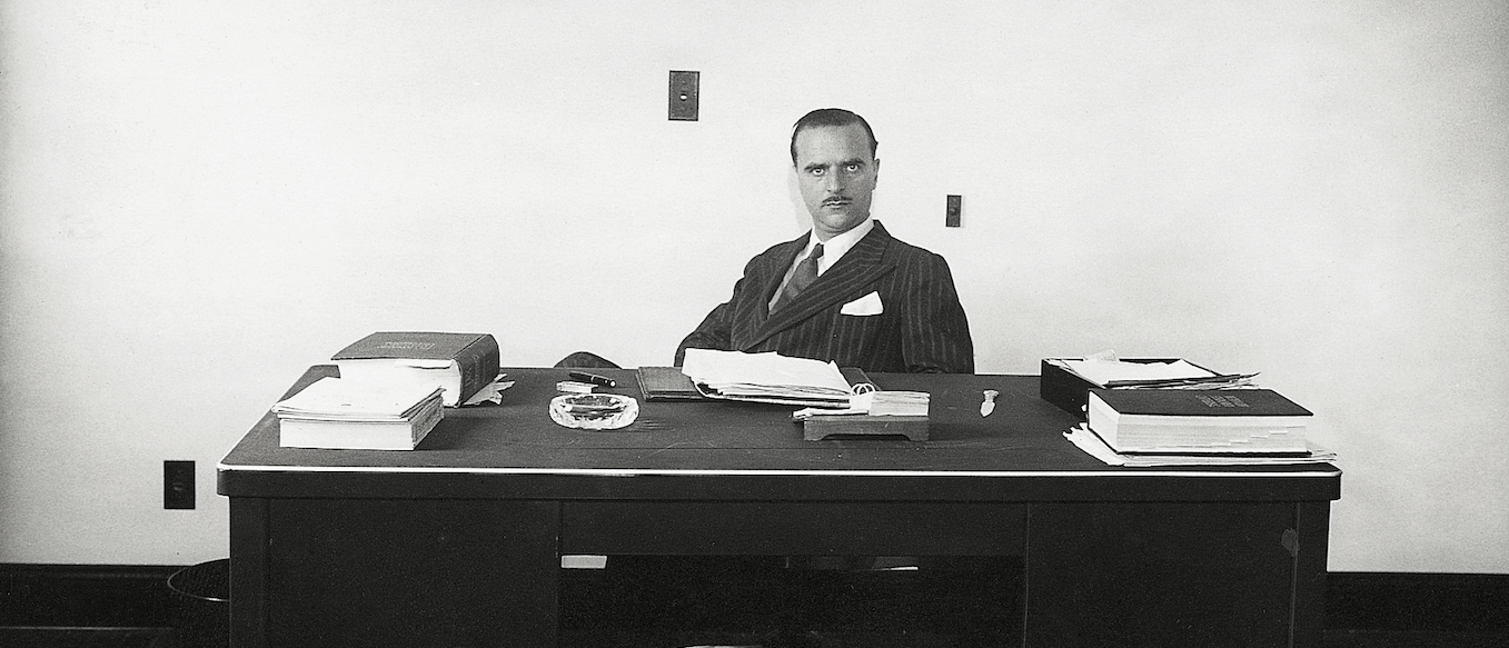 Angel Sanz Briz at his desk