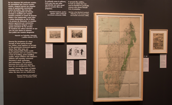 Mapa de Madagascar expuesto en Arte Canal