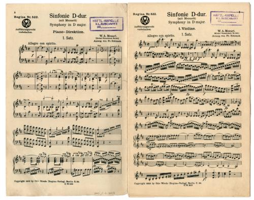 «Diapasón y partitura» (1940)